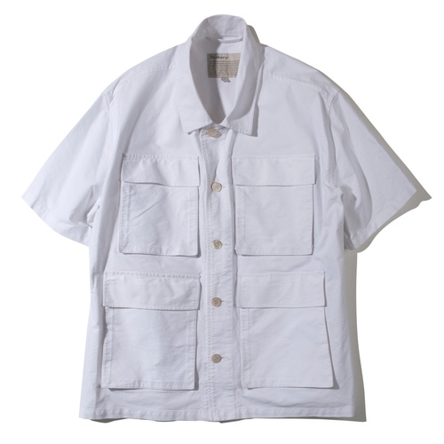 [POTTERY] COTTON WASHED FATIGUE SHIRT 01 (White)