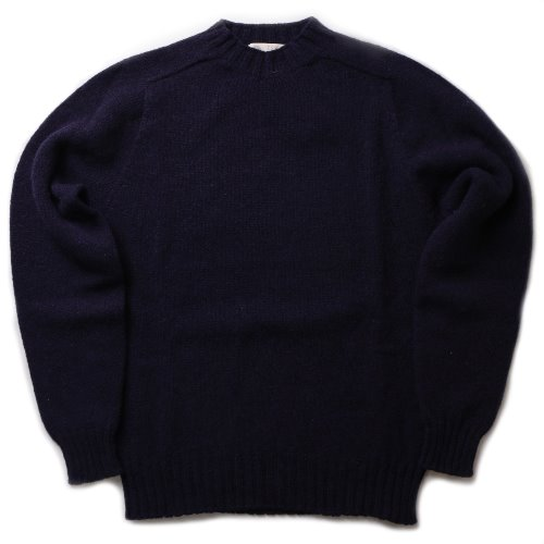 [Esk Valley Knitwear] Andy Seamless Shetland (Navy)