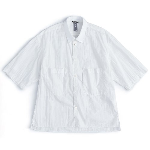 [UNAFFECTED] OVERSIZED HALF SHIRT (Off White)