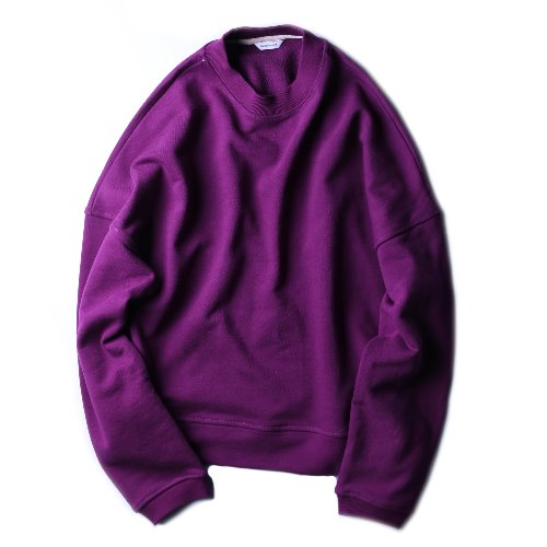 [hausbacken] Crop Sweat (Purple)