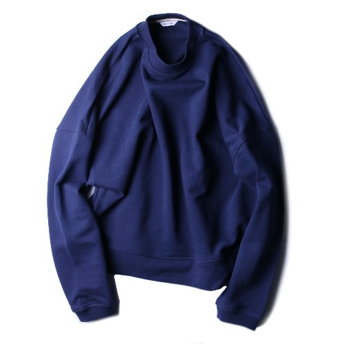 [hausbacken] Crop Sweat (Navy)