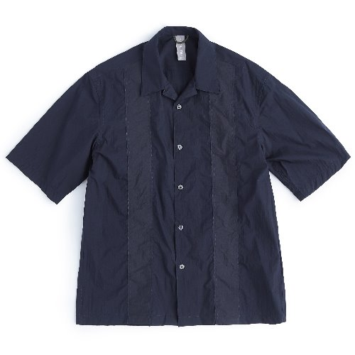 [UNAFFECTED] COLOR BLOCKED SHIRT (Navy)
