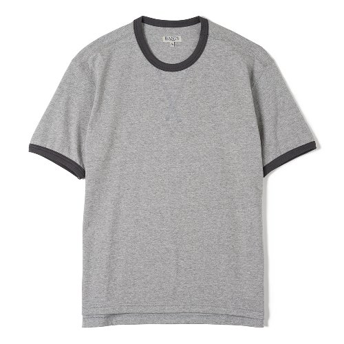 [BANTS] FLB Cotton Round Neck T-shirt Half (Grey)