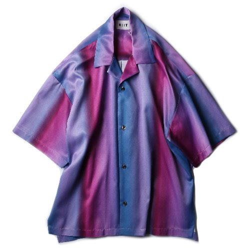 [KIIT] Gradation Print S/Sleeve Shirts (Purple/Blue)
