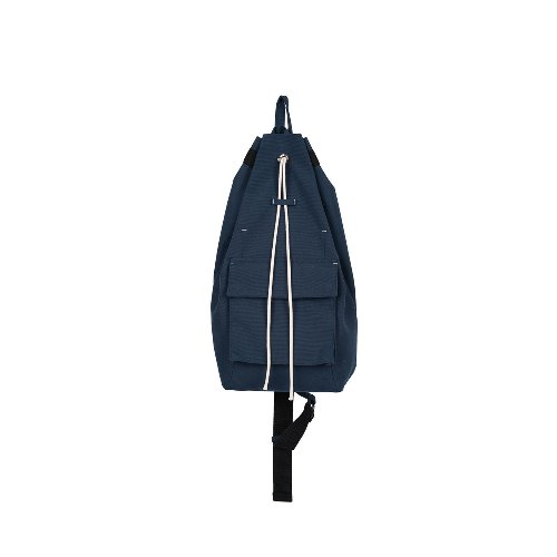 [polyteru] ONE SHOULDER DRAWSTRING BAG (Navy)