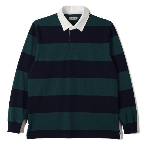 [BANTS] FLB Stripe Cotton Rugby T-shirt (Green x Navy)