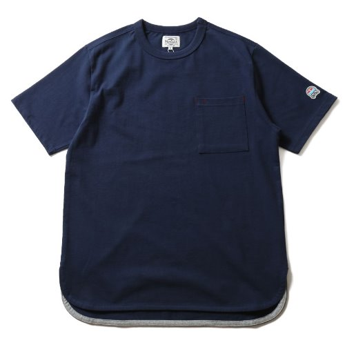 [HORLISUN] Emery Short Sleeve Pocket T-shirts SU Seasonal (Navy)