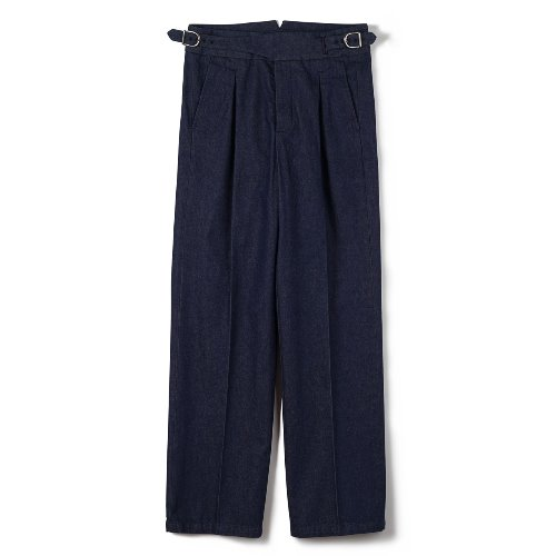[BANTS] FLB Washed Denim Gurkha Pants (Indigo)