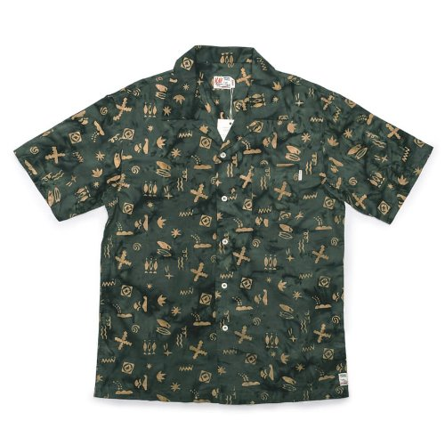 [M.Nii] Handcrafted Aloha Shirts (Green)