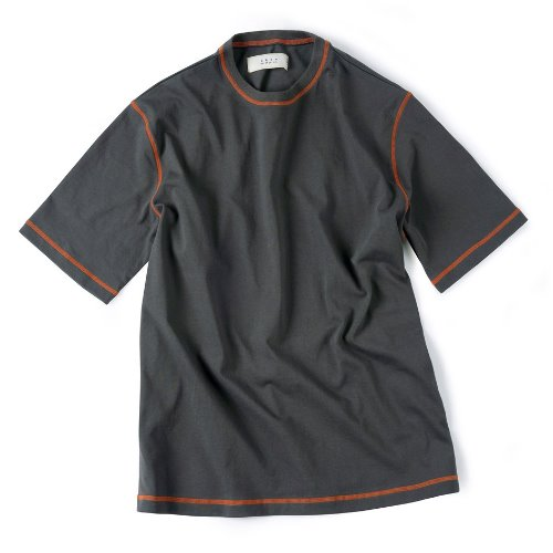 [Shirter] Cover Stitch T-Shirt (Dark Grey)