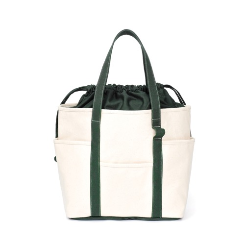 [MAZI UNTITLED] Café Tote Canvas (Ecru Green)