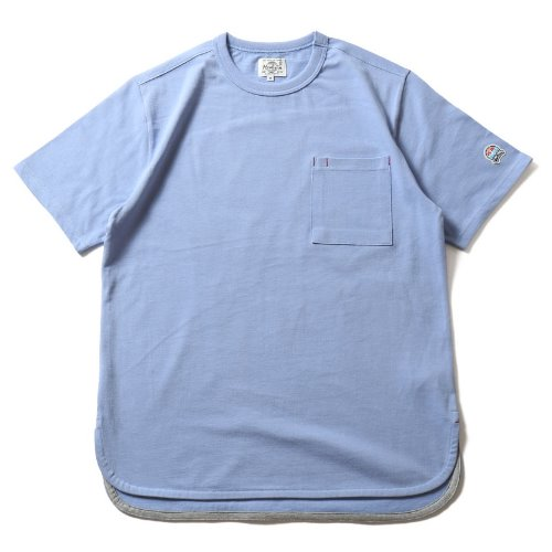 [HORLISUN] Emery Short Sleeve Pocket T-shirts SU Seasonal (Blue)