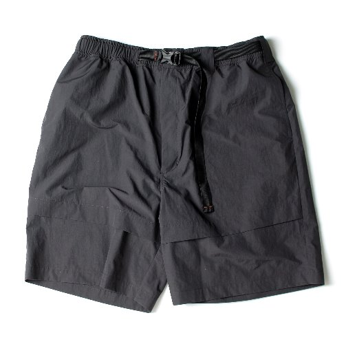 [Ourselves] NYLON EASY TROPICAL SHORTS (Charcoal)