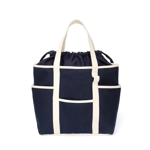 [MAZI UNTITLED] Café Tote Canvas (Navy Ecru2)