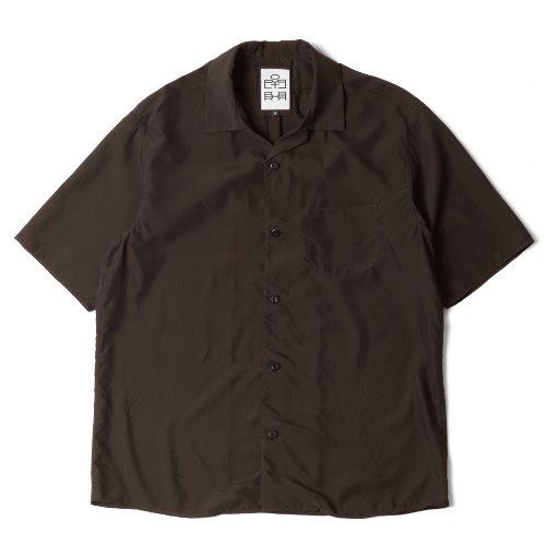 [polyteru] Relaxed Shirts (Brown)