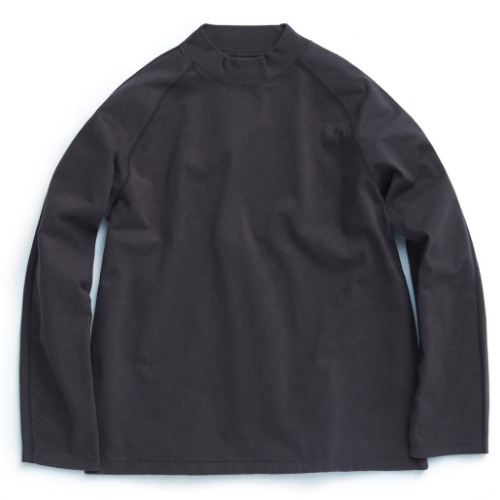 [UNAFFECTED] Mockneck Long Sleeves (Charcoal)