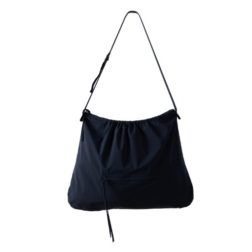 [polyteru] Shirring Bag (Navy)