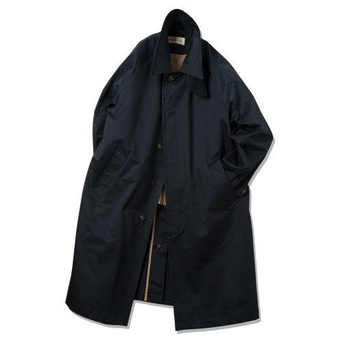 [rough side] Balmacaan Coat (Navy) Exclusive for Havati