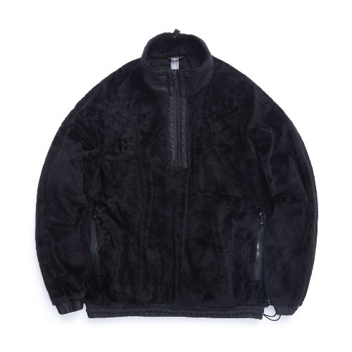 [UNAFFECTED] Pullover Sweat Shirt (Black Shaggy Fleece)