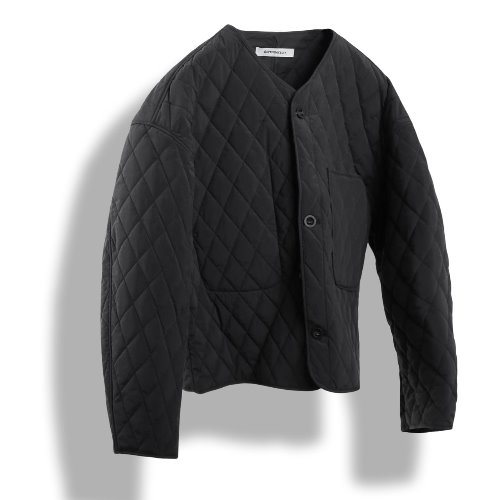 [BIRTHDAYSUIT] Quilted Cardigan (Black)