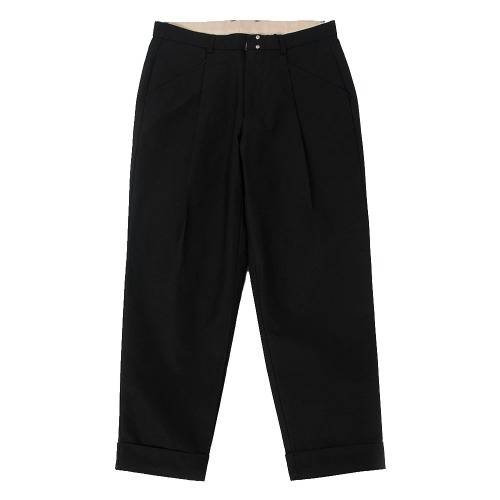 [BEHEAVYER] Standard Tuck Pants (Black)