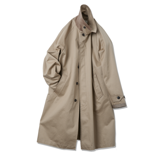 [rough side] Balmacaan Coat (Beige)
