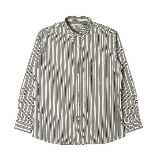[BANTS] OSF Stripe Broadcloth B.D Shirt (Green)