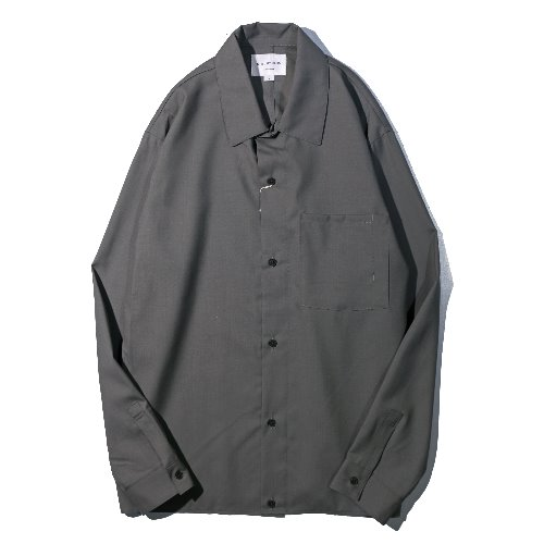 [STILL BY HAND] Washable Wool Shirt (Grey)