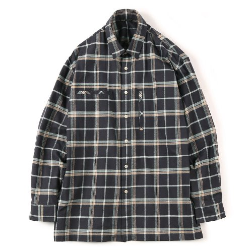 [SHIRTER] Flannel Over Box (Check Brown)