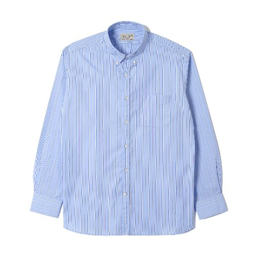[BANTS] OSF Stripe Broadcloth B.D Shirt (Skyblue)