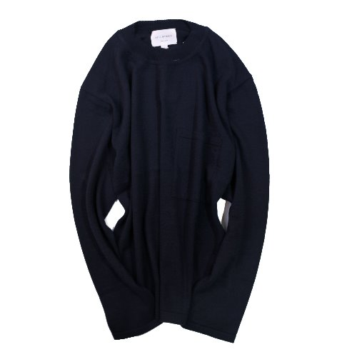 [STILL BY HAND] High Twist Knit (Navy)