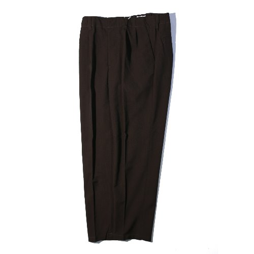 [STILL BY HAND] Relax 2-tuck pants (Brown)