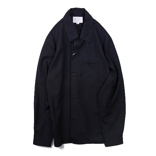 [STILL BY HAND] Washable Wool Shirt (Navy)