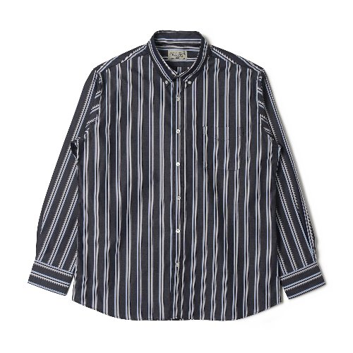 [BANTS] OSF Stripe Broadcloth B.D Shirt (Navy)