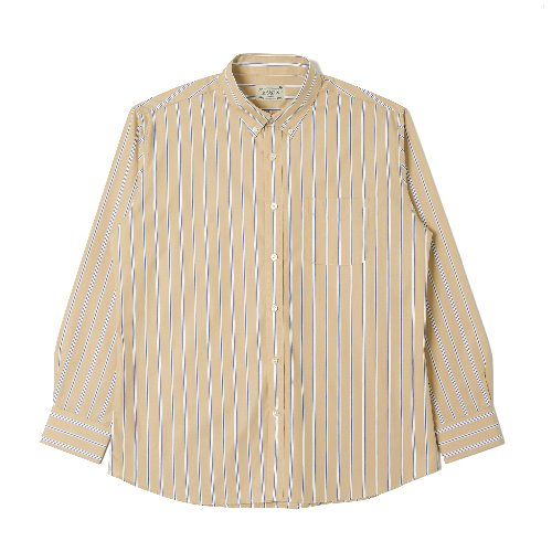 [BANTS] OSF Stripe Broadcloth B.D Shirt (Beige)