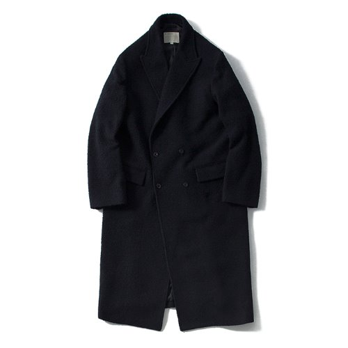 [POTTERY] Long Double Coat (Navy)