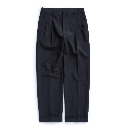 [UNAFFECTED] Two Tuck Wide Pants (Black)