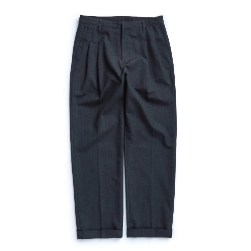 [UNAFFECTED] Two Tuck Wide Pants (Charcoal)