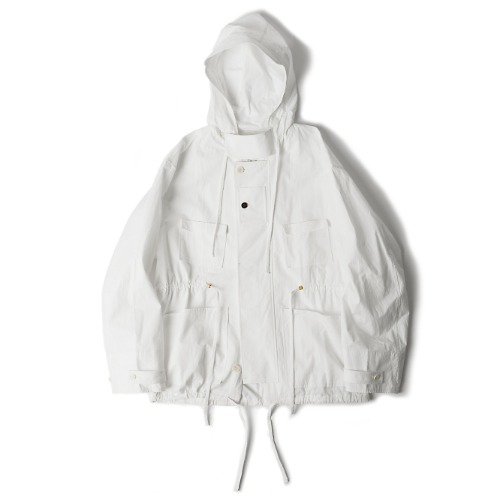 [polyteru] Hooded Parka (White)