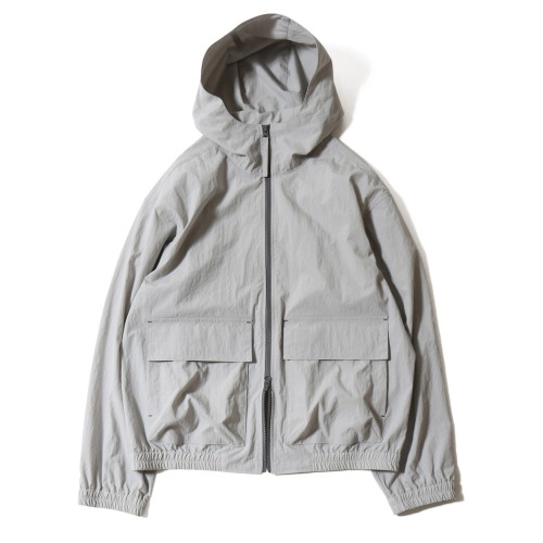 [HORLISUN] Breeze Nylon Hood Zip Up Jacket (Gray)