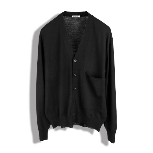 [BIRTHDAYSUIT] Wool 100 Cardigan (Black)