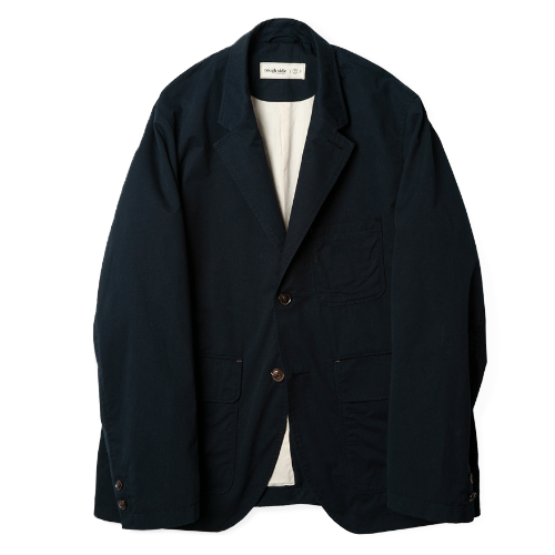 [rough side] Folk Jacket (Navy)