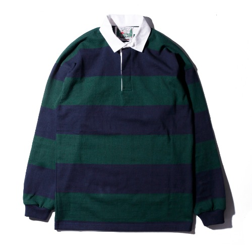 [Columbiaknit] Solid Rugby (Navy/Evergreen)