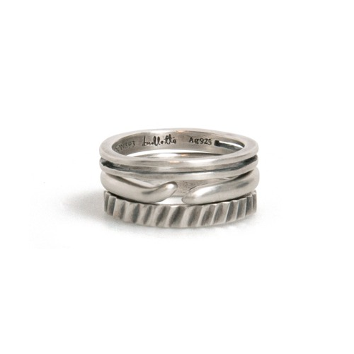 [Bulletto] 20 Layered ring Set