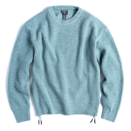 [UNAFFECTED] Oversized Crewneck Knit (Mint Melange)
