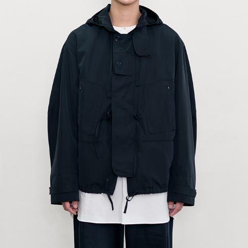 [polyteru] Hooded Parka (Dark Navy)
