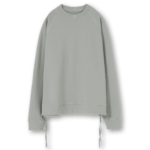 [YOUTH] Side Zip-up Sweatshirt (Mint Grey)