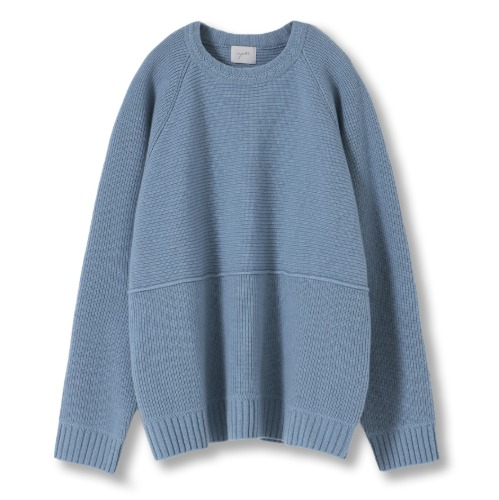 [YOUTH] Structured Sweater (Pale Blue)