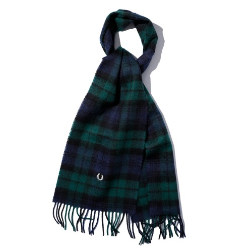 [FRED PERRY] Black Watch Tartan Scarf