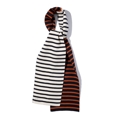 [SAINT JAMES] Scarf Crazy (Ecru/Marine/Marine/Rouille)